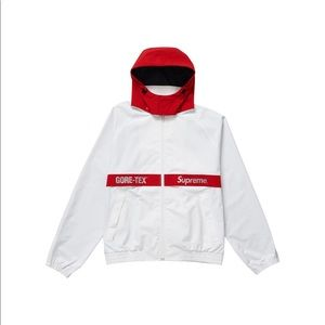 Supreme gore-tex court jacket white